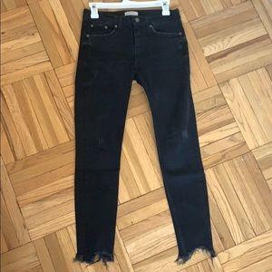 Zara black skinny jeans size 4